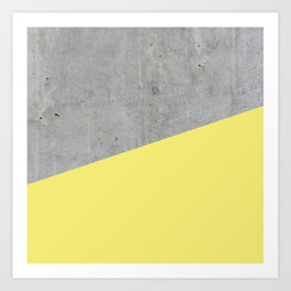 Concrete and Yellow Color Art Print