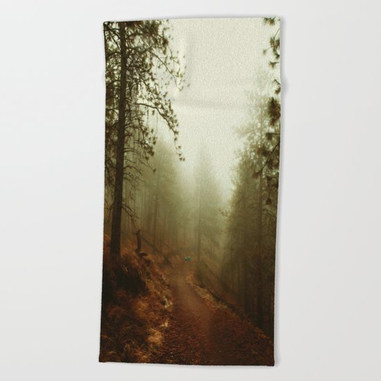 Autumn in Ponderosa Pines Forest Beach Towel