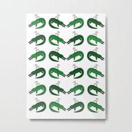 Crocodile and friend Metal Print