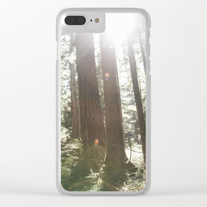 Sunny Forest Clear iPhone Case