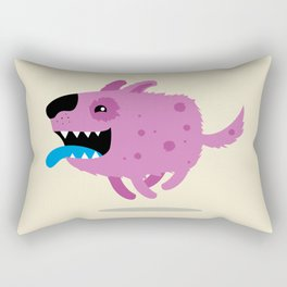 Purple dog Rectangular Pillow