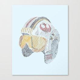 Rebel Pilot Canvas Print