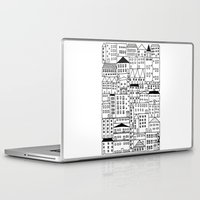 cityscape Laptop & iPad Skins featuring cityscape by Anna Grunduls