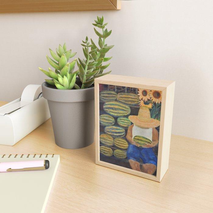 Watermelon Lady Framed Mini Art Print
