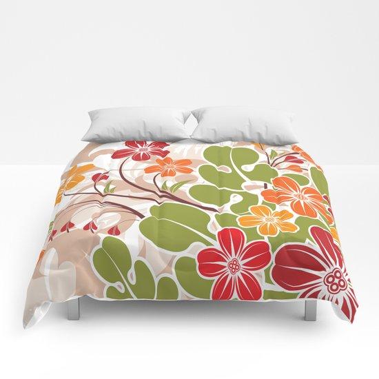 Spring Flowers Comforters