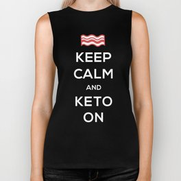 Bacon - Keep Calm And Keto On Biker Tank