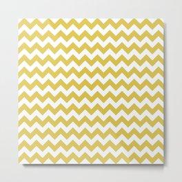 CHEVRON DESIGN (GOLD-WHITE) Metal Print