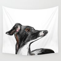 italian Wall Tapestries featuring Italian Greyhound by James Peart