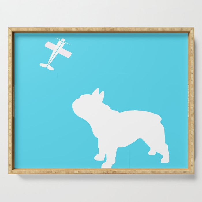 French Bull dog art Serving Tray
