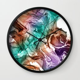 DIGITAL ALCOHOL INK ART 1 Wall Clock