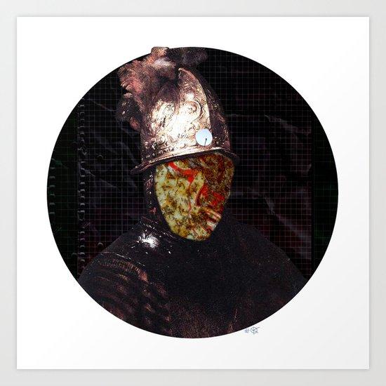 Rembrantds Golden Helmet Collage 1 Art Print