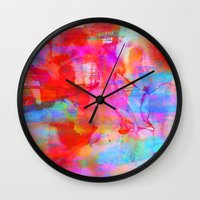 sia Wall Clocks featuring Dreaming by Amy Sia