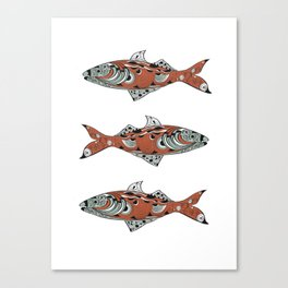 A fish tail Canvas Print