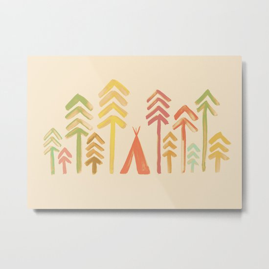 Tepee in the forest Metal Print