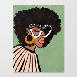 Chic Glasses Canvas Print