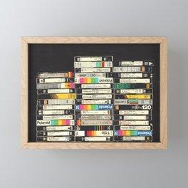 VHS Stack Framed Mini Art Print