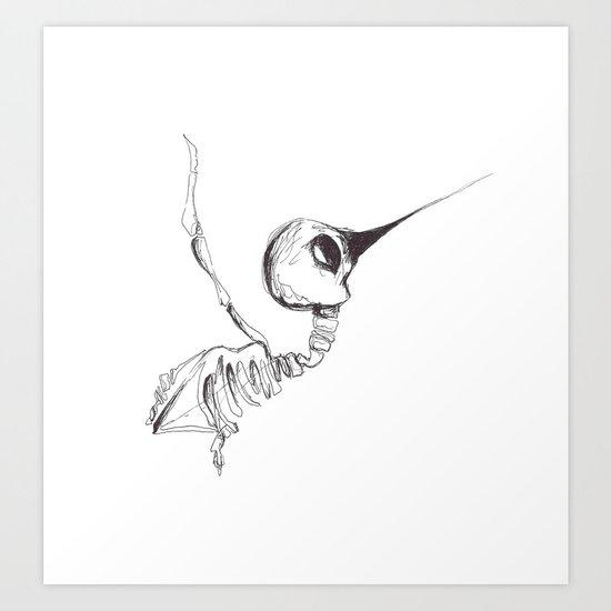 The Humming bird  Art Print