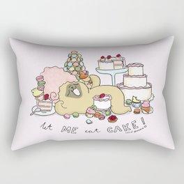 let me eat cake Rectangular Pillow