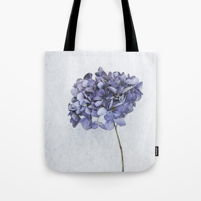 Dried Blue Hydrangea Tote Bag