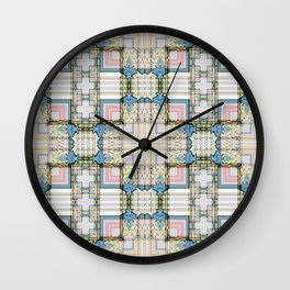 Multi Tiled Pastel Pattern Abstract Wall Clock