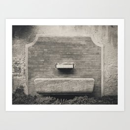 Water fountain in the center of Milan Art Print