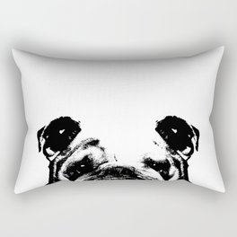 British Bulldog Rectangular Pillow