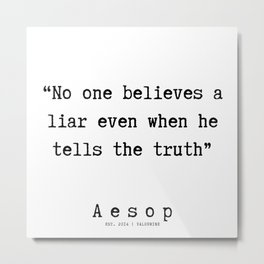 12   | Aesop Quotes | 190923 Metal Print