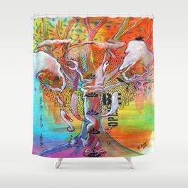 Elephant Song Shower Curtain