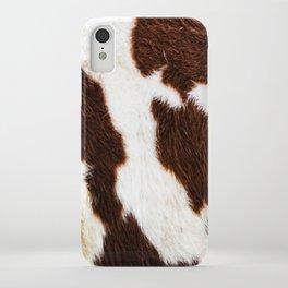 Cowhide Brown Spots iPhone Case