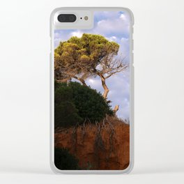 Tree on the Algarve coast Clear iPhone Case