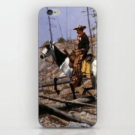 "Frederic Remington Western Art ""Prospecting for Cattle Range"" iPhone Skin"