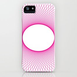 PINK GUILLOCHE Abstract Art iPhone Case