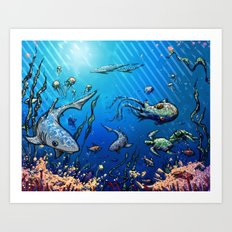 Unda da Sea Art Print