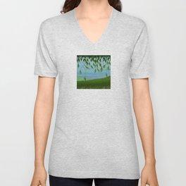 Spring landscape Unisex V-Neck