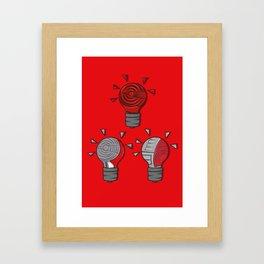 Jordan Lightbulb Soles Framed Art Print