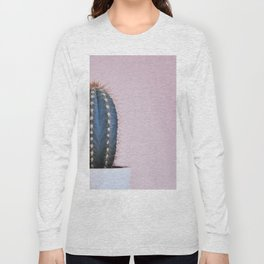 Cactus on Pink (Color) Long Sleeve T-shirt