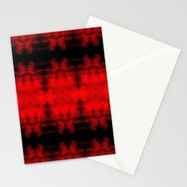 Red Black Diamond Gothic Pattern Stationery Cards