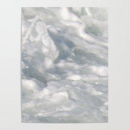 TEXTURES: Laguna Beach Sea Foam #2 Poster