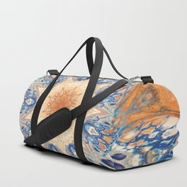 Fluid Nature - Golden Rays Mandala Duffle Bag