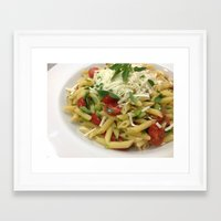 pasta Framed Art Prints featuring pasta by Albano Juliano