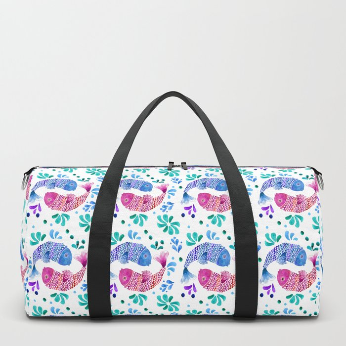 Pisces watercolor artwork Duffle Bag