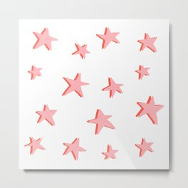 Stars Double Metal Print