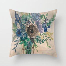 Sueños en Azul Throw Pillow