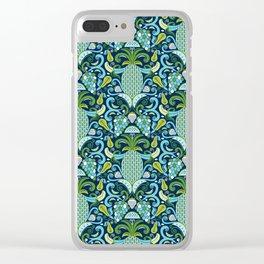 Ambrosia Blue Clear iPhone Case