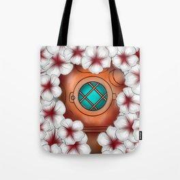 Floating in flowers Tote Bag