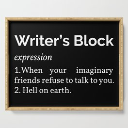 Writer's Block Definition Serving Tray