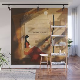I was trapped in the lines illustration (Part 1/4: Books) Wall Mural