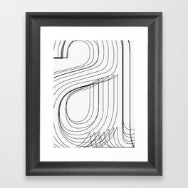 Helvetica Condensed 002 Framed Art Print