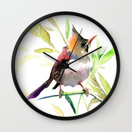 Cute Bird, Yuhina Wall Clock