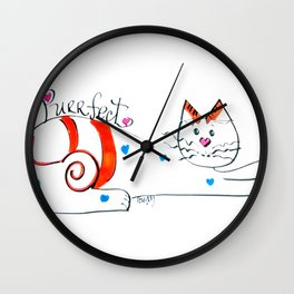 Cat Whimsey Wall Clock